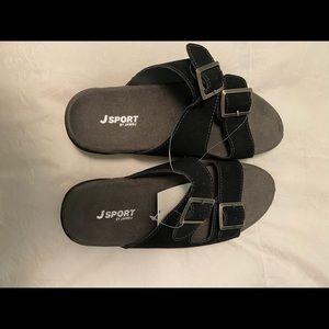 Comfy Black Suede Sandals